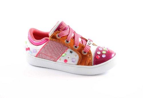 LELLI KELLY LK6882 fuxia scarpe bambina lacci+elastico luci gemme 31