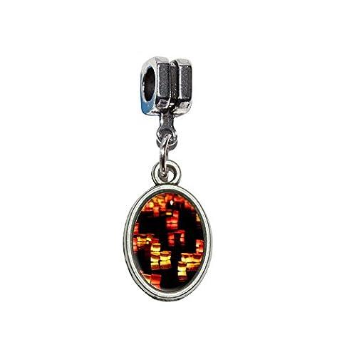 Bougies en rivière–Lumières Bateaux Love Romance italien européenne Euro Style Perle Charm Bracelet–Compatible avec Pandora, Biagi, Troll, chamilla 18cm,