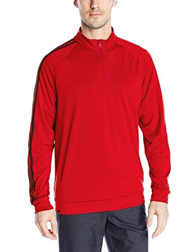 Adidas Golf pour homme Motif 3bandes 1/4superposition Fermeture Éclair sur le dessus Power Red