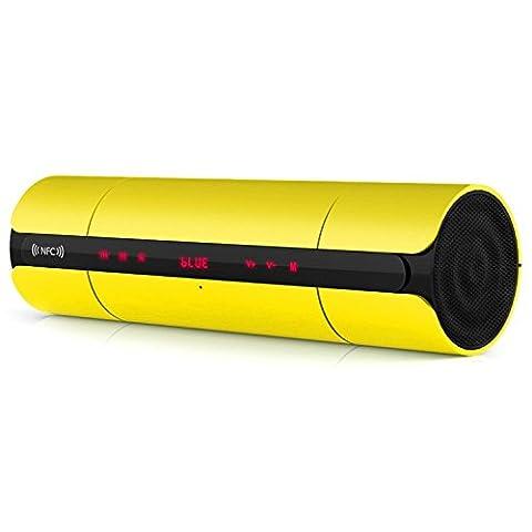 NFC HIFI Portable Mini Bluetooth Lautsprecher Wireless Stereo Lautsprecher, Eingebautes Mikrofon, Unterstützung U Disk oder TF Card Playe , yellow