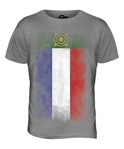 CandyMix Chakassien Verblichen Flagge Herren T Shirt Hellgrau