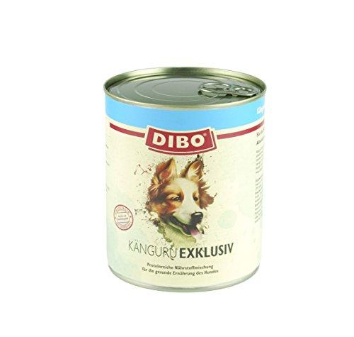 DIBO - EXKLUSIV KÄNGURU, 6 x 800g-Dose aus reinem Muskelfleisch - Single Protein, DIBO-Qualität -