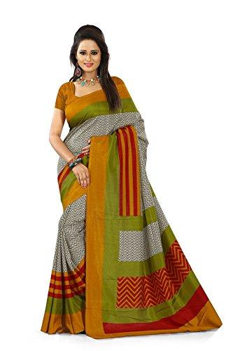 fugen self design geometric print printed fashion art silk saree ... (fu50 )