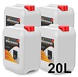20 Litros Bioetanol 96% origen Vegetal para chimeneas - (4 garrafas de 5 litros)...