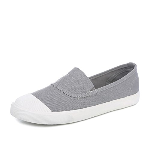 Lok Fu Weiße Schuhe Trug,Damenschuhe,Frühjahr Atmungsaktive Schuhe Helfen Faule Leute Mit Flachen,Shell-toe-espadrilles C