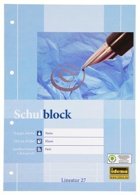 Schulblöcke /Schreibblöcke liniert DIN A4 / 50 Blatt je Block (20er Packung, Schulblock   liniert)