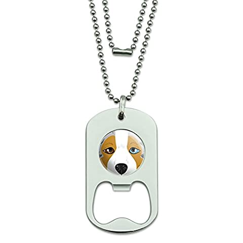 Australian Shepherd Face - Aussie Dog Pet Dog Tag Bottle Opener