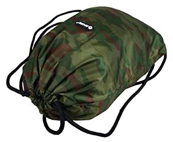 Boys Mens Camo Hi Tec Gym Swimming School College Trainers Pumps Drawstring Bag (Green/Grey/Desert) (Green)
