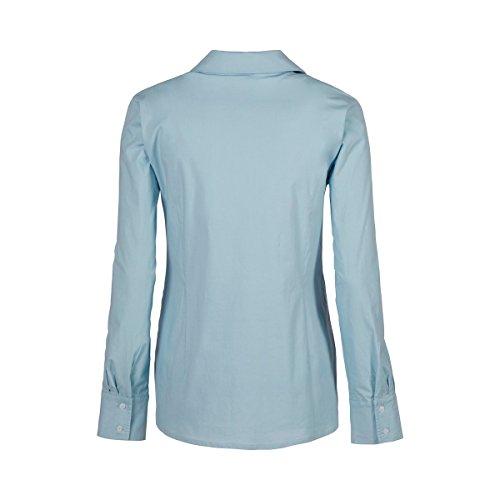 2HEARTS La blouse de grossesse et d'allaitement Easy Business chemisier de grossesse chemisier de grossesse Light Blue Angel Falls