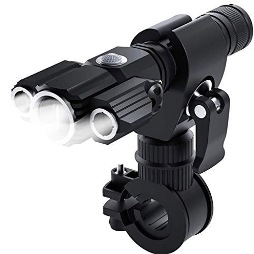 Fahrradlicht,Bike Light 500 Lumen LED IPX6 Wasserdicht Frontlicht,USB Wiederaufladbar,6 Leuchtmodi Taschenlampe,Super Lange Arbeit,Batterie Erinnerung,für Nachtfahrten,Camping,Outdoor,Jagen (Schwarz)