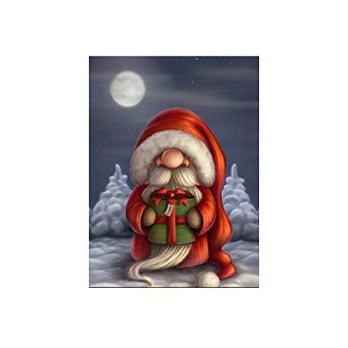 XWArtpic Frohe Weihnachten Bild Leinwand Malerei Wohnkultur Moderne Wand Kunstdruck Und Poster Cartoon Niedlichen Weihnachtsmann Für Wohnzimmer 60 * 100 cm