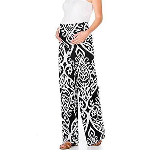 Pantaloni premaman donna estate stampa leggins gravidanza cotone comodi fascia elastica maternita leggings/m