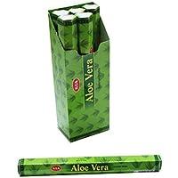 Sia - Barritas de incienso con aloe vera - 20 palitos - Pack de 6 cajas