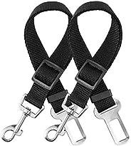 elloLife 2 Cinturón de Seguridad de Coche para Perros, Arnés del Cinturón de Nylon Ajustable Universal para tr