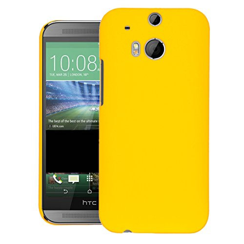 ZOUK Thin Fit Case for HTC One (M8) dual sim Back Cover Sleek Rubberised Matte Hard Case Back Cover For HTC One (M8) dual sim (Yellow)  available at amazon for Rs.250