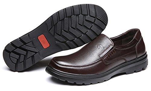 Marroni Comodo Tacco Scarpe on Uomo Slip Piatto Aisun nS4wxRBp