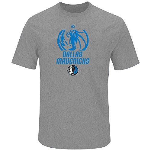 NBA Big & Tall Team Slub-Jersey Short Sleeve Crew Tee, Herren, NBA Big and Tall Apparel, grau meliert, XLT -