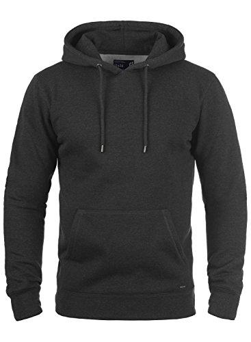 !Solid Bert Herren Kapuzenpullover Hoodie Pullover mit Kapuze und Fleece-Innenseite, Größe:M, Farbe:Dark Grey Melange (8288)