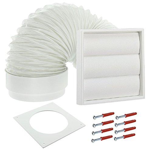 Spares2go Pared Exterior Kit ventilación secadora