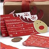 Rocking Rudolf Reindeer Christmas Scratch Card Trivia Quiz Table Game (Pack of 10)