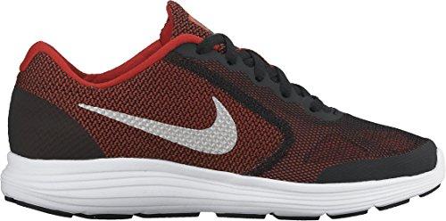 Nike Revolution 3, Chaussures de Running Entrainement garçon Rouge (University Red/Metallic Silver/Black/White 600)