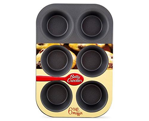 Betty Crocker 6Großer Cup-Muffin Pfanne Antihaft-Set 2Stück (27,9x 19,1cm.) 6-cup Muffin Pan
