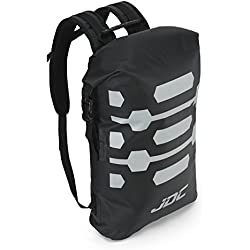 JDC Mochila para Moto 100% Impermeable Bolsa Resistente al Agua 30L- Negra
