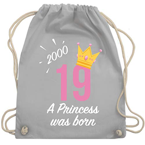 Geburtstag - 19 Geburtstag Mädchen Princess 2000 - Unisize - Hellgrau - WM110 - Turnbeutel & Gym ()