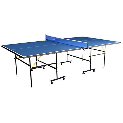 Tischtennisplatte mit Rollen - Jalano Tischtennis Tisch 16mm Stärke blau beschichtet - Ping Pong Table Tuniermaße 274 x 152,5 x 76 cm Tischtennis