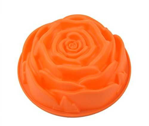 9 Rose Flower Birthday Cake Bread Tart Flan Silicone Baking Mould Tin Bakeware by Generic