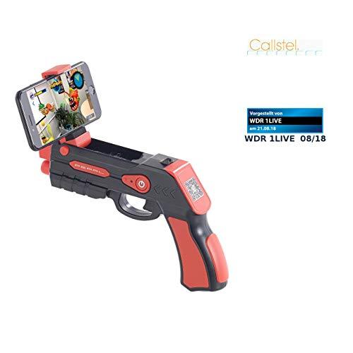 Callstel AR Gun: Augmented-Reality AR-Pistole, Bluetooth, für Smartphones bis 5,5
