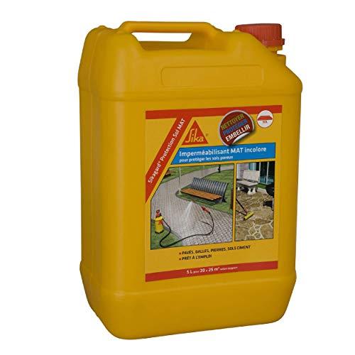 Sikagard Protection Sol MAT, Imperméabilisant effet mat pour sols (Pavés, dalles, pierres), 5L, Incolore