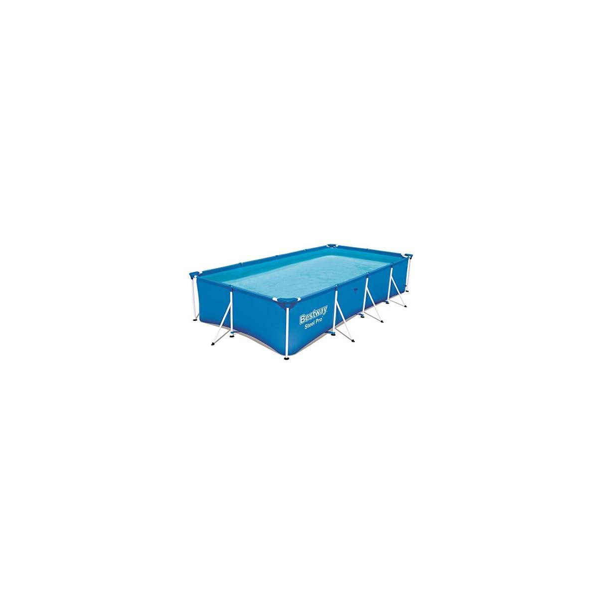41keFgCbdKL. SS1200  - Bestway Steel Pro 56405 - Piscina (Piscina con Anillo Hinchable, Rectangular, 5700 L, Azul, PVC, Acero)