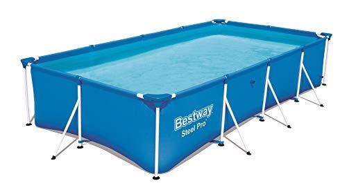 Bestway Steel Pro rechteckiger Kinderpool, mit stabilem Stahlrahmen, 400 x 211 x 81 cm