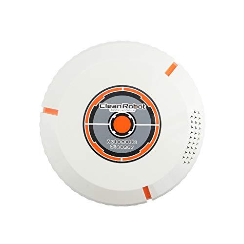 JINRU Super Silencioso Robótica Aspiradora con Tecnología De Detección De Gota Y Filtro De Alto Rendimiento para Pet, Diseñado para Piso Duro Y Alfombra Delgada,White