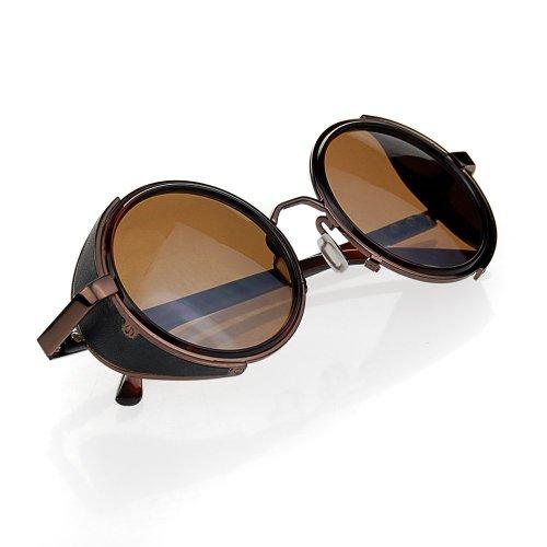 Gafas de sol marrones unisex circulares