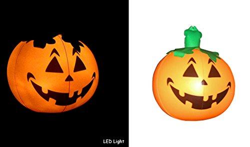 Great inflate - zucca di halloween gonfiabile con luci led, a prova di bambino