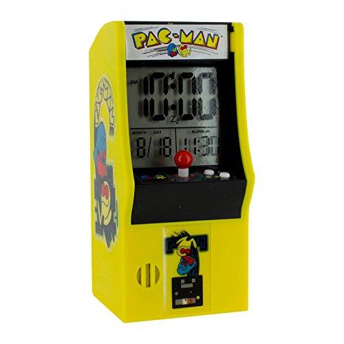 Pac Man Arcade Tischwecker mit original Sound - Pac Man Arcade Tischwecker Reisewecker Uhr (Hohe Sound-wecker)