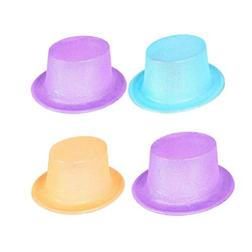 b6cb1822af7 Toyvian 4 Pieces Glitter Party Top Hats - Sombrero de Jazz para niños para  niños Espectáculos