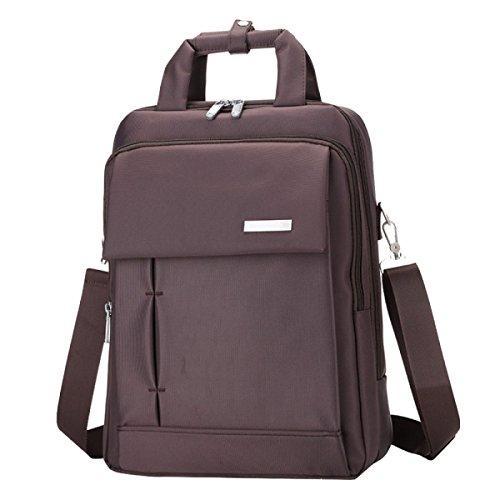 Multifunktionale Schultertasche Männer Und Frauen Computer Tasche Rucksack Lässig Einfach Wild Brown