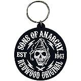Sons Of Anarchy Redwood Original Badge Oficialmente Nue Negro Rubber llavero