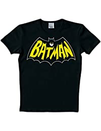 Original bATMAN t-shirt pour homme avec lOGO rétro iOOI bAT noir taille s à xL