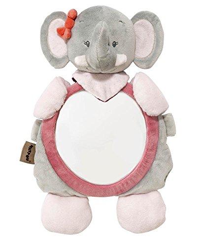 Nattou Espejo retrovisor con velcro de Adele el elefante, Adele y Valentine,...