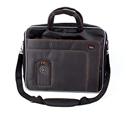 "Duragadget Professional Quality Lightweight & Tough 15.6"" Laptop Briefcase Carry Case With Padded Shoulder Strap & Multiple Compartments For Lenovo Ideapad U330 (Touch) Ultrabook, Ideapad Yoga 11s"
