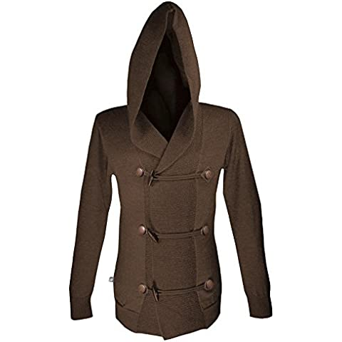 Musterbrand Assassin's Creed Cardigan a maglia Uomo Musketeer Wool Hoodie Marrone