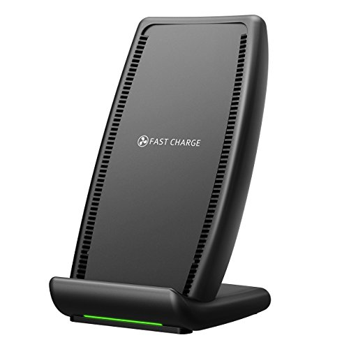 Holife Qi Ladestation, Wireless Charger 10W Induktions Ladegerät mit Lüfter Kompatibel mit Samsung Galaxy S9/S8/S8 Plus/S8+/S7/S6/S7 Edge 7.5W Qi kabelloses Ladegerät für iPhone 8/8P/X/XR/XS/XS MAX