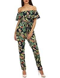 9666ef70b8c La Modeuse - Combinaison Pantalon à imprimé Fleuri
