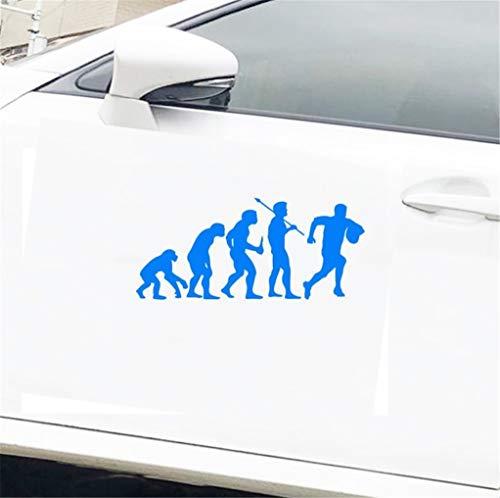Carbon Aufkleber Auto Persönlichkeit Sport Evolution Rugby Evolution Lustige Auto Aufkleber 15,5 Cm x 7 Cm Für Auto Laptop Fenster Aufkleber