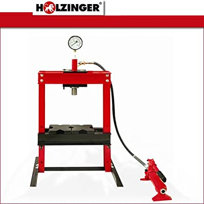 Holzinger Werkstattpresse - HWP10T-M, 10T, 90-358mm mit Manometer