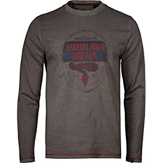 Musterbrand Uncharted Langarm T-Shirt Herren Artefact Vintage Look Braun M